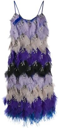 Emilio Pucci x Koche embellished feather dress