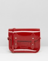The Cambridge Satchel Company Micro Leather Satchel Bag in Patent Red