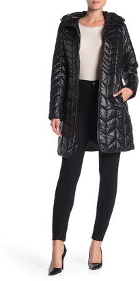 Kenneth Cole New York Hooded Quilted Puffer Coat