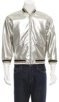 Saint Laurent Metallic Varsity Jacket