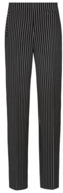 HUGO Regular-fit trousers in striped stretch fabric