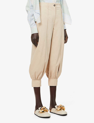 J.W.Anderson Relaxed-fit high-rise cotton-twill trousers