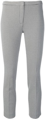 Theory houndstooth check cropped trousers