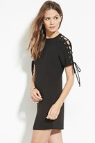Forever 21 FOREVER 21+ Contemporary Lace-Up Shift Dress