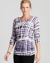 Lafayette 148 New York Plus Printed Scoop Neck Sweater