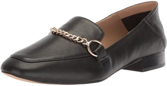 The Fix Amazon Brand Women's Darien Chain Detail Collapsible Loafer Flat