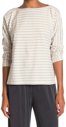 French Connection Rosana Striped Boatneck Long Sleeve T-Shirt