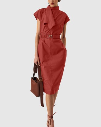 Oroton Wrap Neck Dress
