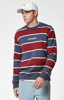 Obey Wilton Striped Crew Neck Sweatshirt