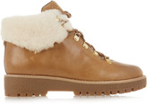 MICHAEL Michael Kors Putnam shearling-trimmed leather ankle boots