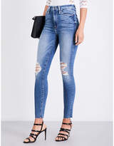 Good American Good Waist Raw Edge distressed skinny high-rise jeans