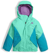 The North Face Girls' Kira Triclimate Waterproof Jacket, Green, Size 2-4T