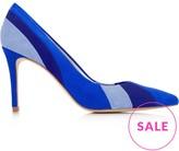 Karen Millen Suede Stripe Court Shoes