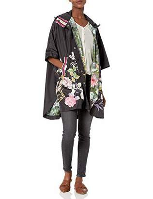 Johnny Was Women's Floral Printed Reversible rain Poncho