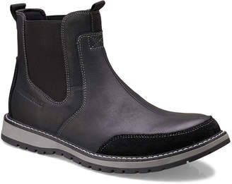 Members Only Men's Mixed Leather Chelsea Boots