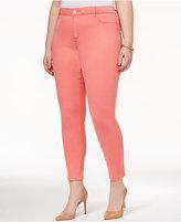 Jessica Simpson Trendy Plus Size Aqua Haze Wash Skinny Jeans