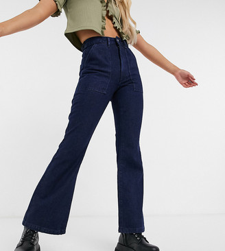 Reclaimed Vintage Inspired The '87 high waist flare jeans in indigo wash
