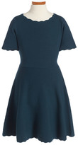 Milly Minis Knit Fit & Flare Dress (Toddler Girls, Little Girls & Big Girls)