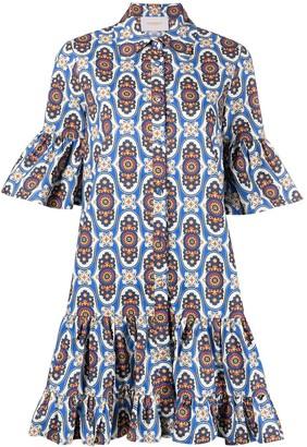 La DoubleJ Amalfi print shirt dress