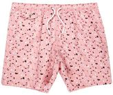 River Island MensPink blobby print swim trunks