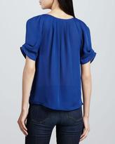 Joie Berkley Short-Sleeve Silk Blouse