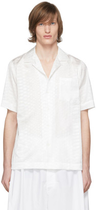 Dries Van Noten White Jacquard Pocket Shirt