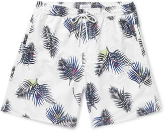 Saturdays NYC Wide-Leg Long-Length Printed Swim Shorts