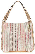 Jessica Simpson Camile Studded Striped Tote