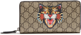 Gucci GG Supreme Angry Cat-print zip-around wallet