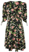 Topshop MATERNITY Rose Ruched Sleeve Tea Dress