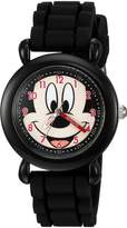 Disney Boy's 'Mickey Mouse' Quartz Plastic and Silicone Casual Watch, Color: (Model: WDS000014)