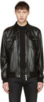 DSQUARED2 Black Leather Jacket
