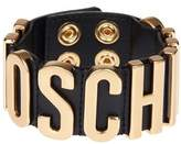 Moschino Women's Black Leather Bracelet.
