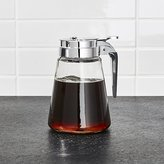 Crate & Barrel Glass Syrup Dispenser