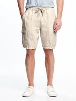 """Old Navy Linen Cargo Shorts for Men (9 1/2"""")"""
