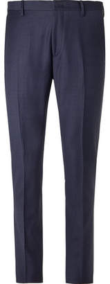 Paul Smith Navy Soho Slim-Fit Puppytooth Wool Suit Trousers