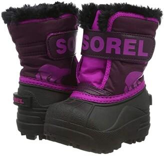Sorel Kids Snow Commander (Toddler) (Purple Dahlia/Groovy Pink) Girls Shoes