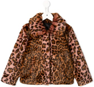 Unreal Fur gradient leopard print jacket