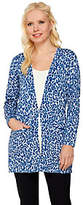Joan Rivers Classics Collection Joan Rivers Animal Print Long Sleeve Boyfriend Cardigan