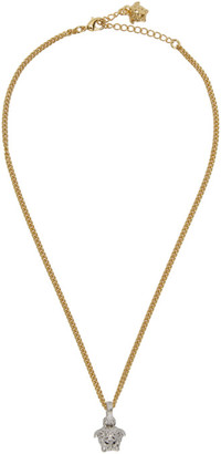 Versace Gold and Silver Medusa Chain Necklace