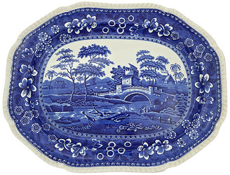 One Kings Lane Vintage Copeland Spode's Tower Meat Platter - Rose Victoria