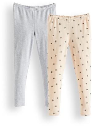 Amazon Brand - RED WAGON Girl's Leggings Pack of 2