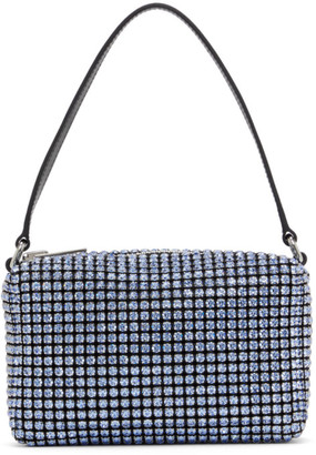 Alexander Wang Blue Medium Rhinestone Heiress Bag