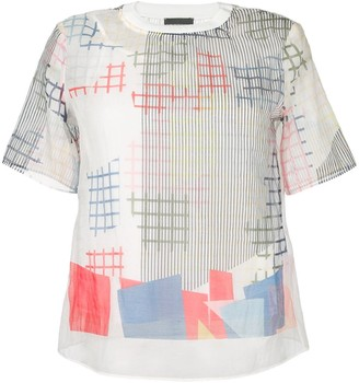 Emporio Armani sheer graphic print T-shirt