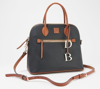 Dooney & Bourke Pebble Leather Large Domed Satchel