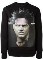 Neil Barrett portrait printed sweatshirt