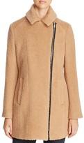 Andrew Marc Slim Alpaca Wool Blend Coat