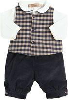 La Stupenderia Cotton Bodysuit, Velvet Pants & Vest