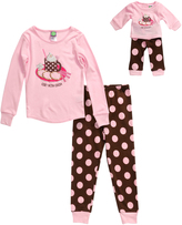 Dollie & Me Pink 'Cocoa' Top Set & Doll Outfit - Toddler & Girls