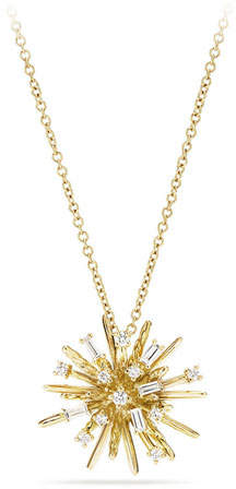David Yurman Supernova Small Diamond Pendant Necklace in 18K Yellow Gold